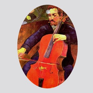 Gauguin: The Cellist, Paul Cezanne p Oval Ornament